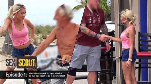 Marsha May makes some random guy's day when she sits on his face and yells, Lick my asshole you dirty perv! It's all part of a test to see what kind of horny dudes are lurking around Fort Lauderdale, and what kind of nasty stuff she can get up to.