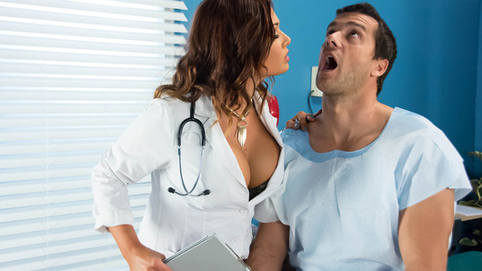 Dr. Tory Lane is a hot doctor with unorthodox methods. Today she helps her patient Ramon work out his sprained jaw by having him eat her out. This turns her on so much that now he's gotta finish the job... Ramon follows the doctor's orders and fucks her good and hard.