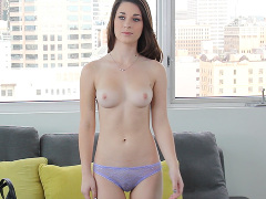 Watch a real casting video preview starring Lacy Channing, courtesy of Casting Couch X!
