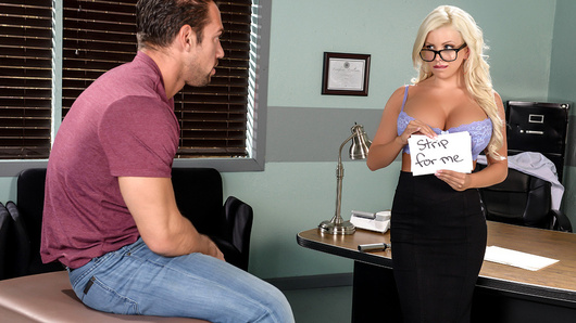 Johnny Castle is due for an eye exam and decides to visit the new optometrist, Savannah Stevens. Johnny's vision is perfectly fine, only he's more interested in getting up close and personal with the busty doctor, and her tits! Will Dr. Stevens be able to see through Mr. Castle's blatant attempts to get up her skirt and between her pussy lips, or does Savannah need to give him the glad eye?