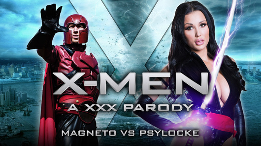 Magneto (Danny D) is invading the X-Mansion, and with all the other X-Men gone, it's up to the sexy Psylocke (a.k.a. Patty Michova) to ward off the super-villain by any means necessary, even if it means sucking his evil mutant dong.