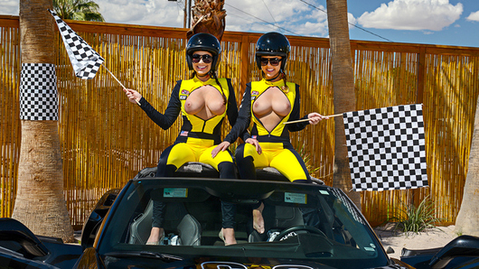 Dillion Harper and Karlee Grey have their car break down before getting to the big race. They call a tow truck for some help, but have no cash to pay, so they offer the tow guy other services in exchange for his help...