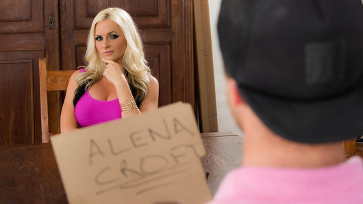 Van is interviewing Alena Croft to see if she would make a good stepmom. Even though she wants his permission to marry his dad, the interview has to go both ways. She needs to make sure he has what it takes to be a good stepson, namely a huge cock. And he delivers.