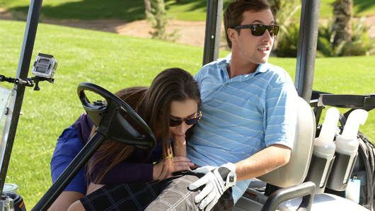 In this episode of Day With A Pornstar, hot-body Dani Daniels spends the afternoon on the golf course, putting around with Jessy Jones. Naturally a game based on putting something hard in a hole leads these two horn dogs to plot a ferocious post game fuck session!