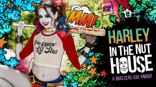 Be warned, lunatic sex fiends like Harleen Quinzel (Riley Reid) are locked up for a reason. She might seem sweet and charming, but get too close and you'll find out why they call her Harley Quinn. New asylum doctor Bill Bailey finds out the hard way that when you give Harley an inch, she'll take six more inches!