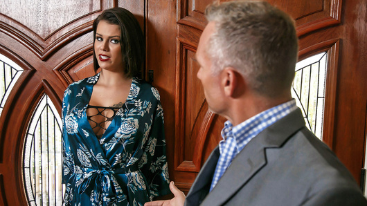 A nymphomaniac housewife has her lover show up at her front door. Since her husband is still home, they try to sneak around the house, even though Bill Bailey can't keep his hands off of Peta Jensen's delightful body and busty tits. While her husband's away at work, Peta fucks Bill and fulfills her deepest and darkest desire, to finally be a slutty, cheating housewife! But will her guilty conscience get the better of her?