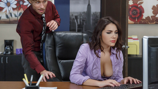 Valentina Nappi takes her career seriously, so she's staying late to finish up some reports for her boss. Michael has been creeping on this hot intern since she started, and he's ready to make his move. But Valentina isn't easy. If Michael wants to squeeze those big natural tits, he'll have to give her something in return...