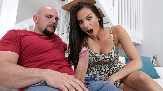 Alexis Deen is pissed off at JMac's sister for sleeping with her boyfriend. She comes over to confront her only to find JMac. Alexis decides the best way to get back at her friend is to fuck Jmac!