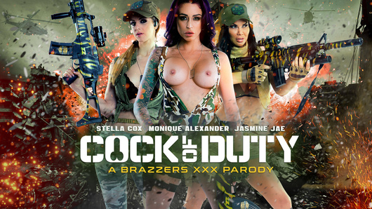 Busty beauties Monique Alexander, Jasmine Jae and Stella Cox are sexy soldiers on an important mission. They must successfully extract Danny D's jizz all over their tits while fending off a swarm of hostiles. These sluts will stop at nothing to make sure that their objective is met, even if it means war!