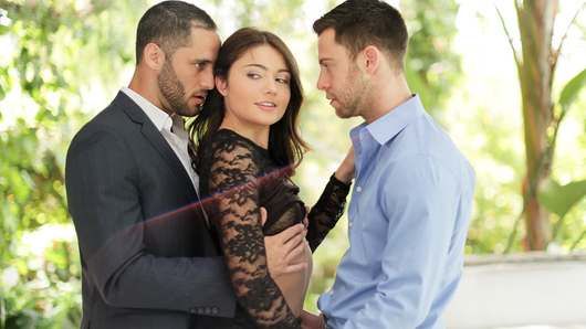 Adria Rae remembers the time her husband gave her an unusual and exciting birthday present, another man for her to fondle and enjoy! She makes sure her husband joins in for some threeway fun. Two men fucking her hard is exactly what she wants and needs to make all of her erotic fantasies come true!