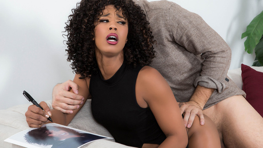 Misty Stone loves her fans almost as much as she loves big cock. After a day of signing autographs, she's ready to shoot some hot porn, but she gets held up by an eager fan. Lucky for him the shoot gets cancelled and he has exactly what Misty is craving... a big hard dick!