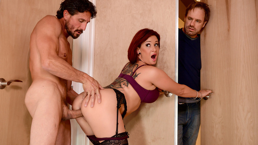 After catching his busty wife Tory Lane cheating on him with another man, a therapy session with Tommy Gunn is in order. Only, Ms. Lane's husband doesn't know that it's actually his therapist who's been banging the slutty Tory, and she's been sucking off the therapist while her husband's been sharing his feelings!