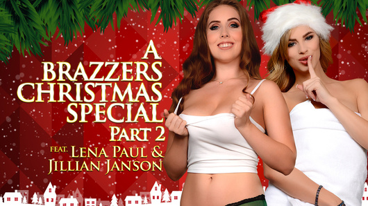 Still shaken up after witnessing her boyfriend's mom Alexis secretly fuck her stepson Tyler the night before, Lena Paul tries to collect her thoughts in the shower. She's soon interrupted by her boyfriend's nympho sister Jillian Janson, who hops into the shower and welcomes Lena into her home with a hellacious holiday orgasm!