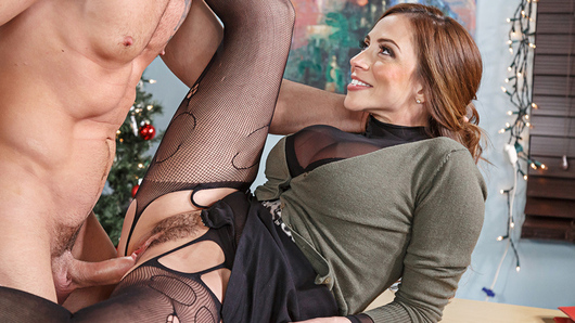 It's Christmas Eve and Ariella Ferrera is making Charles work overtime. Charles finally explodes in anger and gives her what she really deserves, a good fuck!