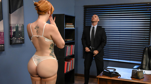 Lauren Phillips is starting her new job as a secretary. She's shy and nervous, but she's eager to please any of her boss' needs. When her boss (Johnny Sins) isn't interested in learning anything about his new secretary, busty Lauren is confused by Mr. Sins' demeanor. But soon, Ms. Phillips discovers how she's actually supposed to be working, by sucking and fucking her boss' cock while on the clock!