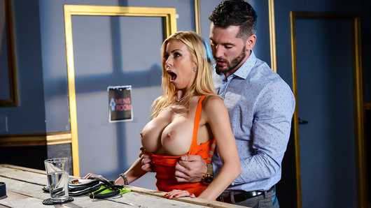 Recently divorced, busty Alexis Fawx enters a bar looking to embrace her newfound singularity. But Ms. Fawx is thirsty for some fresh cock to fuck her dripping wet pussy! For this isn't your typical bar, it's a place for cougars to order their very own personalized dicking! Luckily for her, bartender Mike Mancini is ready to serve this MILF a big, stiff drink, of his fresh cum, that is!