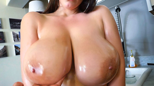 Angela White in Angela White's 32 double g tits are breathtaking