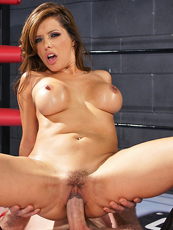Francesca Le sucking dick and having sex in the ring