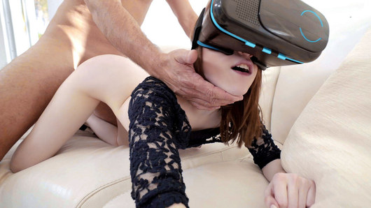 When Alice Merchesi is caught masturbating by her boyfriend's friend, she's already in too deep! Since her voyeur has the massive cock she's been dreaming of, she jumps on it for the ride of her life, then licks up every drop of cum to hide the evidence.