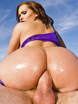 Katja Kassin has some real fun with a big dick sliding up her oily ass