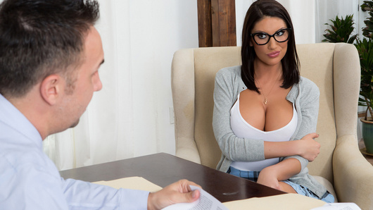 August Ames is so close to getting into her dream college, she just has to ace this interview with the dean. But Dean Lee has dug up some dirt on Ms. Ames. Below her good girl exterior, there's a cock-hungry slut who loves showing off her perfect tits to older men. August realizes if she wants to impress the dean, she'll have to take this interview to the next level...