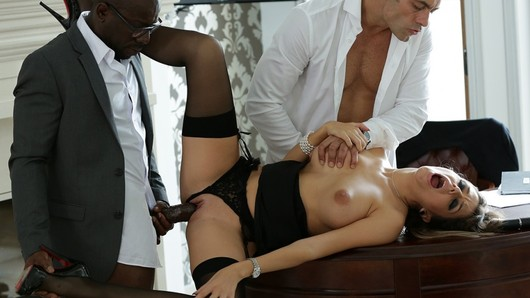 Cara St Germain in Cara, a devoted secretary banged by her bosses