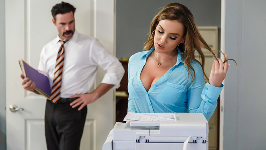 There's nothing wrong with a little office flirtation. When Charles sees new girl Natasha Nice making photocopies in her shirt little skirt, he decides to give her a proper welcome. Natasha can't believe Charles is feeling her up right in the middle of the office, but it feels too good to make him stop. When their boss strolls in, Natasha thinks they'll both be in trouble, but to her amazement the boss acts like nothing unusual is going on. Looks like Natasha will have to get used to working in an office full of free fucking!