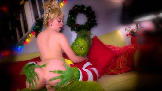 In this revamped classic, The Grinch still holds a hefty grudge over the chaotic Christmas craze. 15 years later, his curiosity once again leads him into familiar territory where he is confronted by 19 year old Cindy Lou Who (a.k.a. Chloe Couture). Miss Cindy doesn't hesitate to remind the Grinch what the true meaning of Christmas is, while her mom (Cherie Deville) and dad deliver their own version of holiday cheer upstairs.