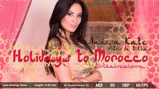 You're in Morocco, yes. But its monuments won't be the best thing you will see. Not at all. The busty brunette Anissa Kate awaits for you in a haima looking forward for you to fuck her. This amazing French pornstar, AVN award winner and one of the sexiest girls on earth, will make your fantasies come true. Now go for your Virtual Reality headset and immerse yourself in an amazing 3D experience that will change your concept of sex. Enjoy this VR porn scene in 180 degrees FOV and our awesome Binaural Sound in your Smartphone Cardboard, Samsung Gear VR, Oculus Rift, PSVR and HTC Vive!