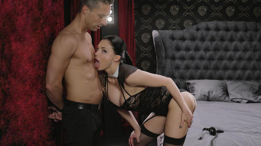 Aletta Ocean in Busty Hungarian babe Aletta Ocean eats jizz in glamcore fuck with Lutro