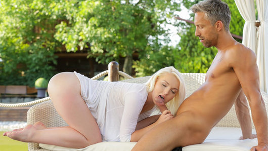 In this beautifully shot scene, blonde beauty Lovita Fate and Lutro share some romantic sexual pleasure. With her soft skin, natural breasts and sweet pussy, the young babe has all to pleasure her man!