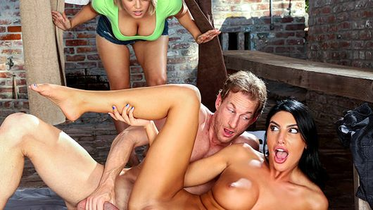 Horny August Ames doesn't even wait for the date to get the cock that she was craving. As soon as the boyfriend comes in, they start kissing and getting it on. She gives this guy one hell of a good sucking before she finally gets his bare cock inside her. Watch her tits and ass bounce from multiple positions until she makes the guy cum!