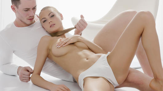 Nancy A in Sensual Ukrainian blondie Nancy A eats cum in hot glamcore fuck