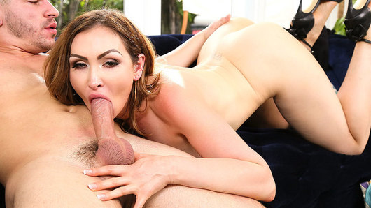 Yasmin Scott is horny and needs cock! Her pool boy Peter is around, and she wants to give him a special gift, a dessert she made, but she always wants his big dick in her mouth and pussy! Will he give it to her? Find out!