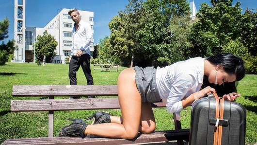 Sexy tourist Daphne Klyde helps out local, handsome guy Lutro to get home. One thing leads to another and they quickly start banging each other hardcore. The Ukrainian chick squirts and orgasm intensely multiple times and so does Lutro, but he shoots his load, right in her mouth, twice. (Video duration: 30 minutes)