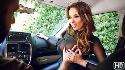 We were cruising down the strip when we spotted sizzling hot Anissa Kate. With her sexy ass squeezed into daring pleather pants, we had to stop and talk to her. But before we could tell her how hot she looked, this little firecracker started giving us attitude. Two can play at that game, we could tell by her choker she was the type of girl who provokes fights as a mode of foreplay, so we decided to see if she could take it as well as she dishes it out. Anissa started getting defensive about her derriere, and then we found out she's never tried anal and we were about to leave her on the curb for being prudish. The next thing we knew she was climbing into the van to prove how much of a badass she was... by crawling across the seats and sucking dick! We caught the roadhead on video, and then we popped her anal cherry! So how far do you think Anissa went to show the world she's a badass?