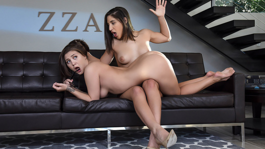 Abella Danger has had it with her super stuffy sorority sisters and calls a house meeting to bitch some sense into them. When Jojo Kiss, a particularly shy member of ZZA, is the only person who shows, Abella flies into a rage, ZZA is known for being the sluttiest sorority on campus, but this year, none of her underlings are willing work for the prestigious title. Abella tells Jojo that if she wants to stay ZZA, she's going to have to step out of her comfort zone and get significantly sluttier... starting with a strap-on initiation administered by Abella!