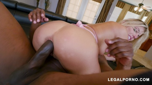 Adriana Chechik in Horny Squirter Adriana Chechik Gets DPd by 2 Black Cocks AB010
