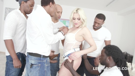 Waka Waka! Blacks are coming! Brittany Bardot 5on1 BBC with Balls Deep Anal / Gapes / Squirt / Facial GIO623 (Video duration: 01:04:57)
