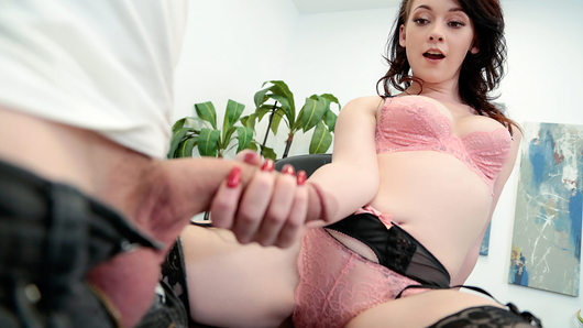 Athena Rayne handcuffed to a filling cabinet wearing nothing but her panties isn't what Van Wylde expected to find in his boss's office. So when she suggests a little revenge fuck, he fills her tight pussy with all the big dick it can handle until he's pulling out to glaze her little tits!