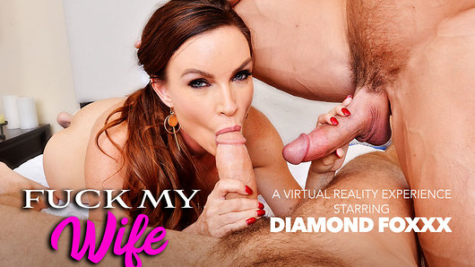 Diamond Foxxx in Two Dicks, One Wife: Your Wife Diamond Foxxx in VR Porn