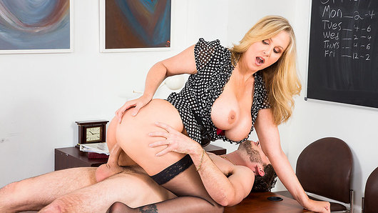 Julia Ann in One last classroom shag: Julia Ann & her final student fuck