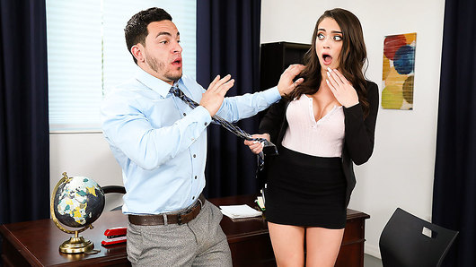 Ashly Anderson in Busty secretary Ashly Anderson helps her boss date with sex!