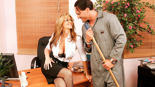 Julia Ann in Julia Ann gets dirty with the janitor at work