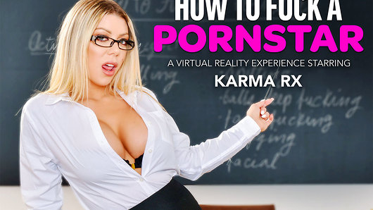 How do you fuck a porn star? Good question. And Karma Rx has a good answer for you today at Naughty America VR. Except she's not going to tell you the answer; she's going to show you. The big tits babe is going to give you a lesson in porn-star fuckerry, and she's going to see if you've got what it takes to make the pussy of her caliber satisfied. This isn't going to be your run-of-the-mill sloppy one-night stand, or your weekend routine weekend quickie. No. Karma's expecting you to push your cock deep while you pull her hair hard. Karma's expecting hand marks on her big ass cheeks once you're finished pummeling her. Karma wants to choke and gag on your big dick balls deep in her throat, causing her tears of joy and happy, smeary mascara. Are you sure you're up for this? And in Virtual Reality? Good. Because Karma's going to learn you real good and hard today! (Video duration: 43 min)