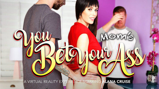 Debts - we all have them. Even your sports-gambling buddy, who you're horny ass has persuaded to wager his swinging  stepmom Alana Cruise! That's right: if you lose, you give up your side chick to him. If you win, you get to fuck his hot mom Alana...and in the ass! That's one hell of a bet, and to top it off, you WON! You'd think one of your friends' moms would be pissed if she found out she -and her asshole, namely- was the wager in a sports bet that ended up being lost. But no, not Alana Cruise. After all, this is Naughty America VR porn! Alana the swinging MILF is ecstatic when she learns you're going to give her anal sex! You - the big-dicked young buck, ready to fuck a hot brunette mom in the ass. She even puts on special lingerie to show off her amazing ass, then starts off by slowly sucking your cock to make it ultra hard. And she comes prepared with lube, to me it extra sensitive for both you and her. To the victor belongs to the asshole, and you're certainly spoiled with Alana's. This VR porn experience only gets better and better each minute, so why not top it off with a creampie? Enjoy! (Video duration: 49 min)