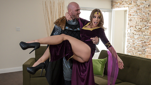 Britney Amber's husband is a major history nerd trying to spice it up in the bedroom with some medieval roleplay. He's even hired a