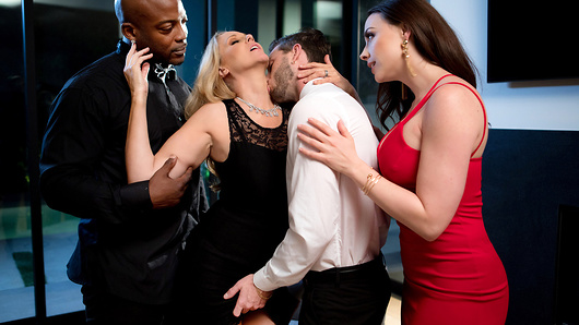 Brazzers sat down with 6 real life moms to find out the nitty gritty on their real fantasies and sexual preferences. We now present this special Mother's Day scene inspired by their feedback.The party is winding down as Chanel Preston grabs a drink and tries to liven up the end of her night, which is exactly what happens when her friend her friend, Julia Ann, shows up to the party like a ray of sunshine. Wild and fun, Julia is an impressive woman who has it all-a brilliant career as a judge, joyful confidence, and an extraordinarily fulfilling sex life. Chanel runs in similar circles as an environmental lawyer, but that's where their paths diverge. At the party, Julia coaches her friend through a sexual awakening (blessed by her loving husband) that ends up resulting in some of the hottest sex of her life (and Chanel enjoys a little taste of the good stuff as well). (Video duration: 52 min)