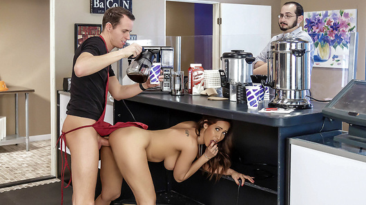 Isis Love takes her coffee thick and creamy, but Justin can't seem to get it right. Isis isn't concerned, she's a patient MILF willing to show Justin that the freshest cream doesn't come from a carton. (Video duration: 31 min)