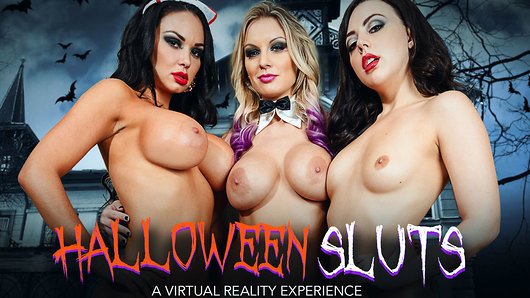 Trick or Treat, Halloween is here and Brooke Beretta, Kenzie Taylor and Whitney Wright are ready for a night on the town. But first, they need a ride, so they use the local app and what do you know, the driver, ends up in their hotel room waiting for them to finish last touches on their sexy Halloween costumes. One thing leads to another and before you can even say